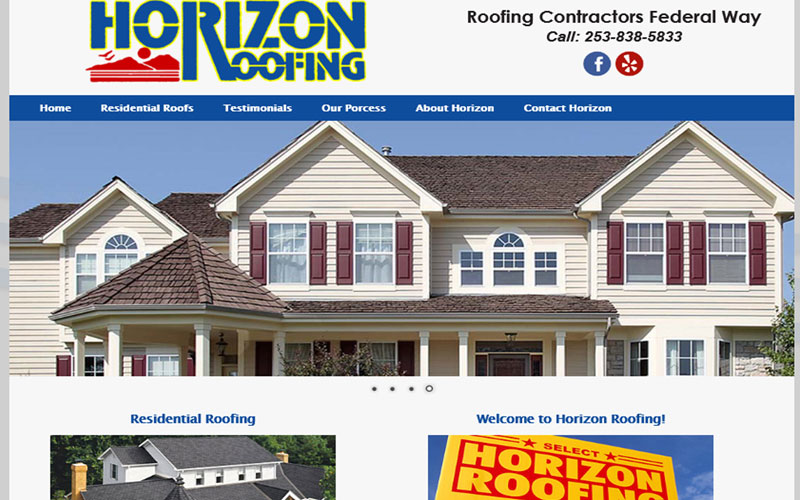 Horizon Roofing Company Website