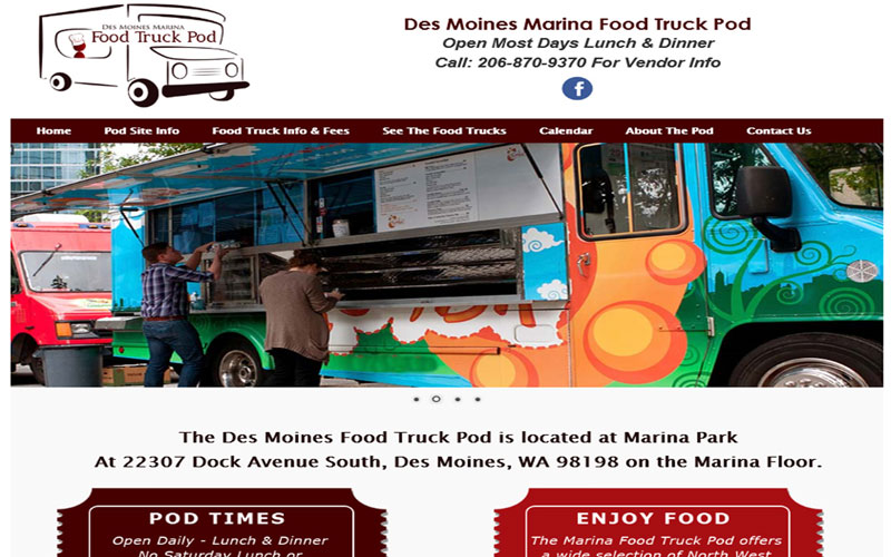 Visit Food Truck Website Sample