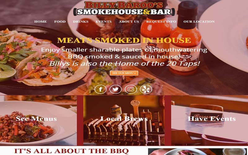 Billy Baroo's Restaurant Website