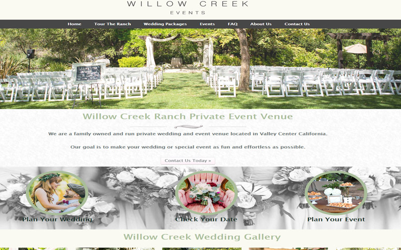 Willow Creek Event Venue California